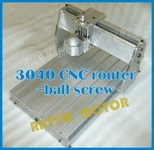 Ferramentas Marcenaria torno de madeira 3040 Cnc Router fresadora mecânico Kit liga de alumínio quadro bola parafuso para o usuário Diy(China (Mainland))