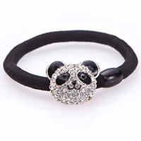 Elastic rubber band girls rhinestone hair band
