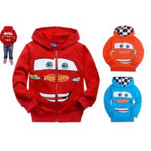 2014 New Arrival Spring Autumn Child Boys girls Hoodies Long Sleeve cartoon cars T-shirts children sport sweatshirt Retail!(China (Mainland))