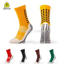 2014 New Trusox Mid Calf Cushion Crew Anti-slip Friction Soccer Socks,Bale knows Accelerate Accelerate Cotton Football Socks(China (Mainland))