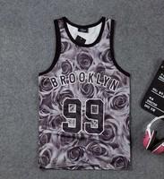DR-20 D-dragon Fashion Harajuku Hip hop tank top 3d Number 99 Breathable Sport Mesh Basketball Jersey jersey Mens vest