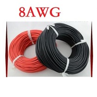 8# 8 AWG 8AWG Heatproof Soft Silicone Silica Gel Wire Connect Cable RC Model Rc Battery Helicopter Car Boat Spare Parts Part