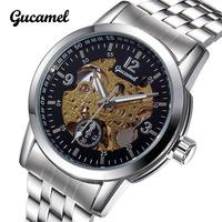 Sales Mechanical Watch Luxury Brand Wristwatches Crystal Mirror Stainless Steel Watch Mens Business Watch