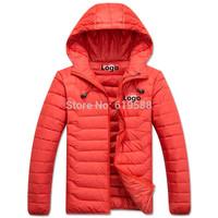 New 2014 men's waterproof ultralight hooded down jacket male down coat winter outerwear Size M-XXL