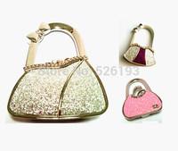 hot sale nice colorful 5 piece lady  bag shape folder purse  bag handbag hook holder 2014 free shipping