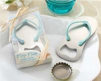 pop the top bottle openers, flip flop bottle opener favors, flip flop bottle cap openers