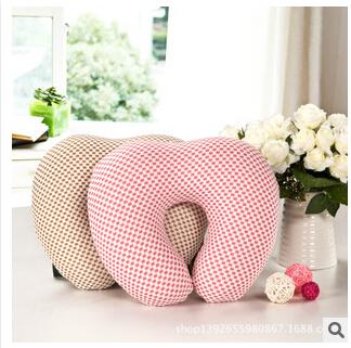 2014 new free shipping U-shaped heart-shaped pillow slow rebound memory foam neck pillow office pillow car cushion wholesale(China (Mainland))