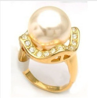 wonderful shell pearl ring size 8#
