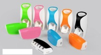 Free Shipping , Dispenser Toothbrush Holder sets toothbrush Family sets White New Automatic Toothpaste