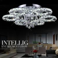 48W Modern LED Diamond Crystal Ceiling Light Diameter 80cm 6 lights