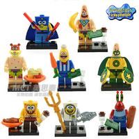SpongeBob Square Pants Minifigures SY177 80 Pcs/lot DIY Building Blocks