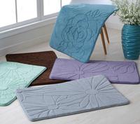 50*80cm memory foam bathroom mat slow rebound entrance carpet soft bedroom mat  free shipping