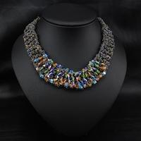 Wholesale Perfume Women Jewelry Fashion Jewelry Perfume Women Vintage Flower Choker Statement Collar Necklace
