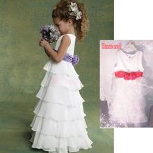 Elegantes vestidos menina para casamentos princesa vestido sem mangas meninas pageant vestidos de casamento vestido de festa para meninas(China (Mainland))