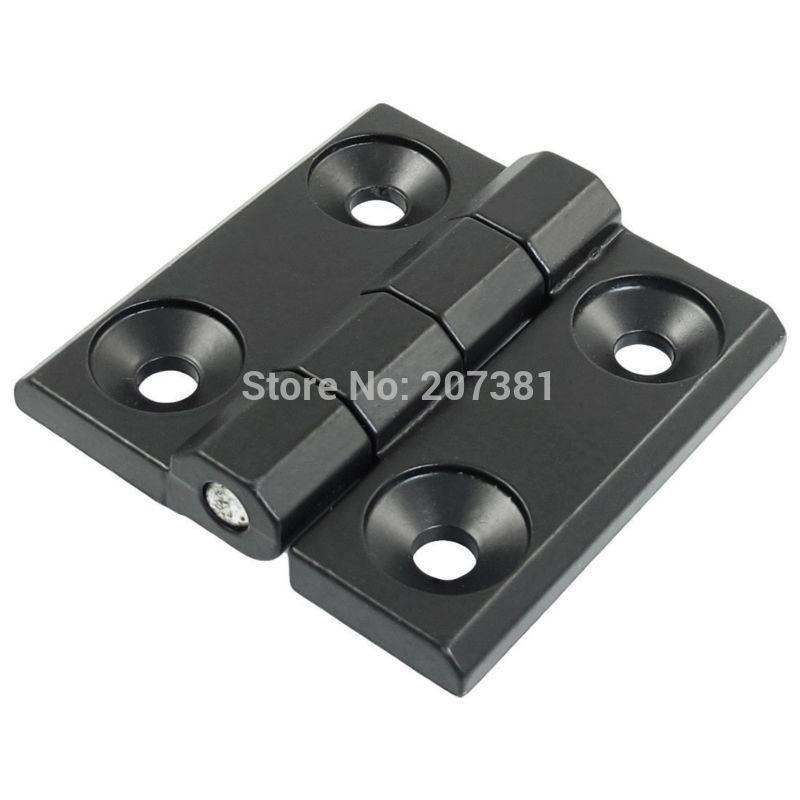 free shipping 60mm x 60mm Countersunk Hole Aluminum Cabinet Ball Bearing Hinge Black(China (Mainland))