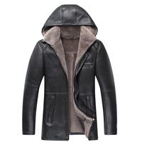 Men's Genuine leather sheep skin double face coat jackets with woollen bladder Men's Natural woollen Fur leather Glengarry L-5XL