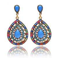 Christmas gifts Female fashion Wedding party Charm jewelry  Vintage Bohemian beads heart pendant drop earrings women 2014 M11