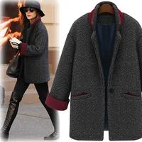 HOT 2014 new winter Elegant woolen coat female short fashion retro Wool coat European style Jacket