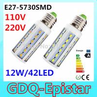 2pcs Super bright 12W 42LED 5730 SMD E27 E14 B22 Corn Bulb Light Maize Lamp LED Light Bulb Lamp LED Lighting Warm/Cool White