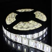 50 meter/lot Waterproof 5630 LED Strip Light 60LEDs/M 5M/reel Flexible strip lighting Ribbion LED tap white
