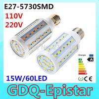 3pcs Super bright 15W 60LED 5730 SMD E27 E14 B22 Corn Bulb Light Maize Lamp LED Light Bulb Lamp LED Lighting Warm/Cool White