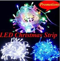 Wholesale - christmas led lights 100 leds/10m LED String fairy, 110v/ 220V christmas led string light  free shipping FEDEX IE