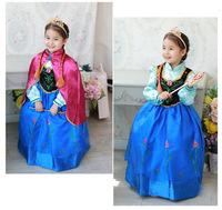 2014 Hot Selling New Style Girls Frozen Dress Elsa Anna beautiful Dress Fashion Princess Dress Children's Cloting