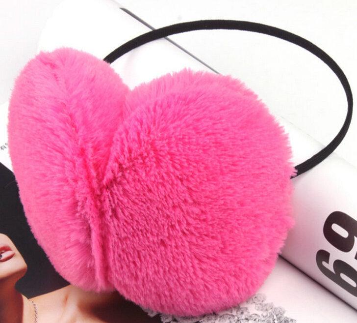 Hot Saling Fashion Candy Colors Women's Earmuff Vintage Cashmere Warmed Earmuff Winter Headphone Type(China (Mainland))
