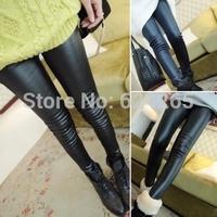 New 2014 Free shipping Winter Leggings Slim classic fashion elastic PU pants Leggings Women One Size wholesale