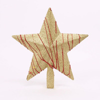 Hot sale 20cm glitter top star Christmas decorations for trees Christmas ornament free shipping