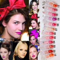 3CE brand Free Shipping 12 Colours Lady Women Sexy Charming Cosmetic Makeup Moisture Beautiful Lipsticks M10020