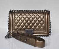 High Quality Le Boy Women Genuine Leather Flap bag Famous Name Brand Designer Chain Shoulder Messenger Quilted bag