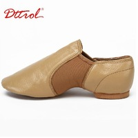 New arrival pig leather women Jazz shoes dance shoes sneakers tan/black many size free shipping