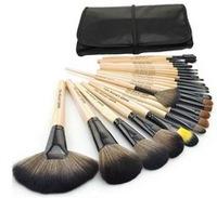 Hot authentic Professional 24 Pcs Brand Cosmetics Makeup Brushes Make up Tool Brushes Set Black+Pink+Wood color make up set