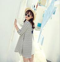 2014 Autumn Maternity Dress Slim Stripe Dress Maternity Free Shipping c1255