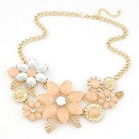 Brand Jewelry 2014 Charm Elegant Temperament Rhinestone Chunky Statement Shourouk Necklace & Pendant Christmas Gift For Women