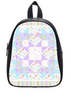 Brand New Custom High-grade PU leather High res Pattern Backbag Bag School Bag