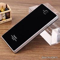 Luxury Hard Case for Huawei Honor 3c Embedded Logo Hybrid Slim Acrylic + PC Fashion Mobile Phone Battery Back Cover Plastic Case