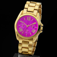 2014 high quality  Pink  Dial luxury brand men watch! The michael watches with LOGO  quartz watch free shipping project