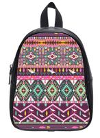 Brand New Custom High-grade PU leather Aztec Pattern Backbag Bag School Bag