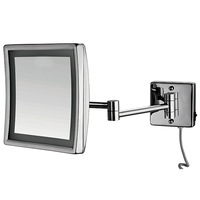 Retail - Beauty Makeup Cosmetic Mirror with led light, Silver Led Cosmetic Mirror lighting 8 inch AC 220-240V, Bath Mirror 3x