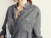 2014 Autumn summer New V-neck cotton Linen women shirt blouse, blusas femininas, Linho long-sleeved female office women tops