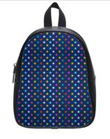 Direct Selling Custom High-grade PU leather Colorful Stars Backbag Bag School Bag