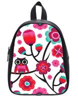 Brand New Custom High-grade PU leather Owl Pattern Backbag Bag School Bag
