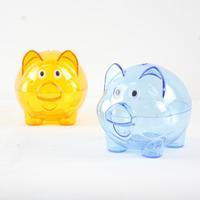 piggy bank plastic transparent piggy bank piggy bank gift pig shape money box