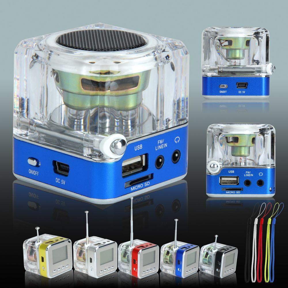 Portable Mini Speaker Micro SD TF Card USB Disk MP3 Music Player Amplifier FM Radio 5 Colors XDA0860(China (Mainland))
