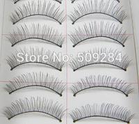 10 Pairs Handmade Natural Long Thick Soft False Eyelashes Fake Eye Lash Extension Makeup Beauty For Women Black