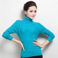 Cardigans 2014 Women Fashion Winter New Arrival Turtleneck Long-Sleeved Cashmere Sweater Women Wool Sweater Womens Sweaters AC10