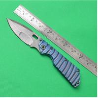 Folding Pocket Knives Strider ST Tanks D2 Stonewashed Blade 62HRC Aitanium (NC)Handle Outdoor Survival knife Camping Tools