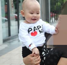 3pcs/lot Free Shipping Children Boys Girls T-shirt Autumn Kids Baby Tee Tops Coats New 2014 Brand Children Cl T-shirt 7(China (Mainland))